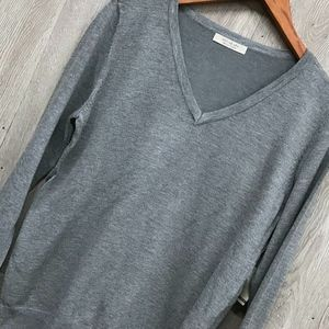 back2basics Sweaters - Heather Grey Crew Neck Lightweight Sweater A5